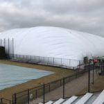 Marquette installs seasonal dome at Valley Fields